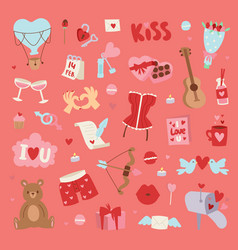 Valentine day pattern vector