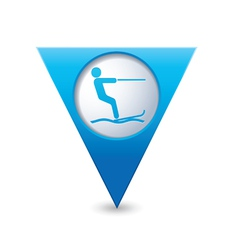waterskiing symbol pointer blue vector image vector image