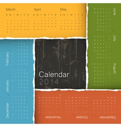wooden texture and torn paper composition Calendar vector image
