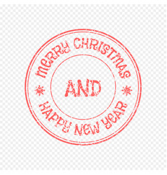 xmas stamp isolated on light background vector image