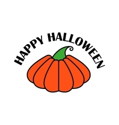 Emblem or poster for a holiday halloween vector