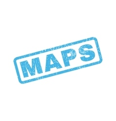 Maps rubber stamp vector