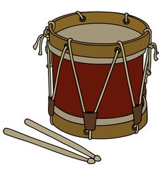 Old military drum vector