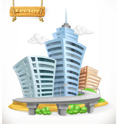 City 3d icon vector