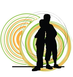 Mom and son vector image