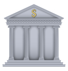 Romangreek temple bank symbol vector
