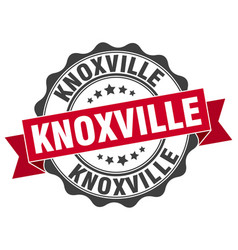 Knoxville round ribbon seal vector