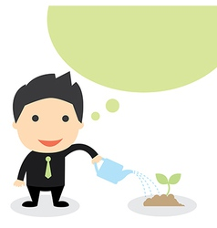 Business grow vector