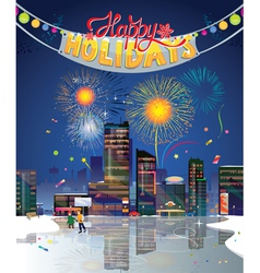 City holidays vector