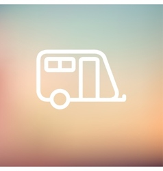 Pulling cab thin line icon vector