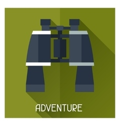Tourist creative of binoculars in vector