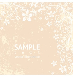 Rustic floral background vector