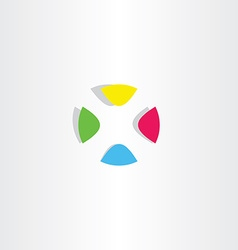 Letter x logo x colorful circle icon vector