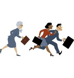 Age and career vector image