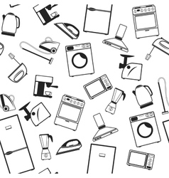 Background with appliances vector image