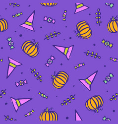 beautiful bright halloween background vector image