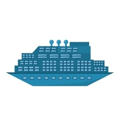 Blue cruise ship travel maritime transport vector