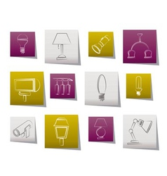 different kind of lighting equipment vector image