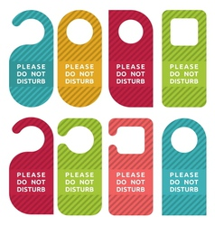 Do not disturb door hanger set vector image vector image