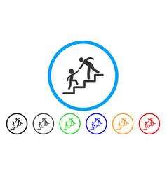 education steps rounded icon vector image