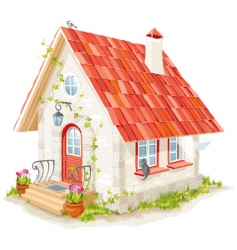 fairy house vector image