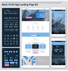 Flat design responsive pixel perfect ui mobile app vector