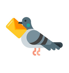 Flat style of post pigeon vector