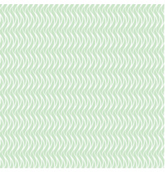 Green wavy seamless floral pattern vector