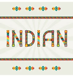 Indian design word with ornament vector