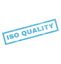 Iso quality rubber stamp vector