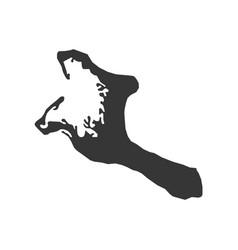 Kiribati map silhouette vector