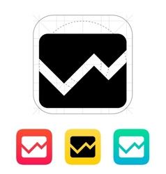 Line chart icon vector image vector image