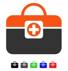 Medic case flat icon vector