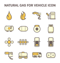 natural gas icon vector image