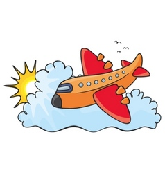 orange aeroplane vector image