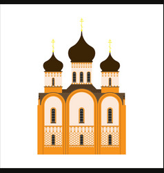 Orthodox church flat icon vector