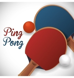 Ping pong sport design vector