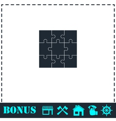 Puzzles icon flat vector image vector image