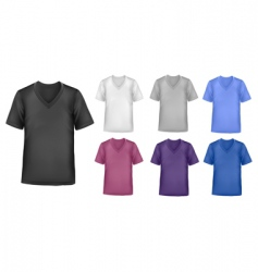 set with t shirts vector image vector image