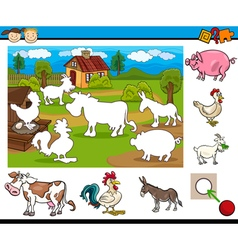 task for preschool children vector image vector image