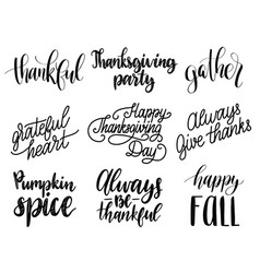 thanksgiving lettering for invitations or vector image