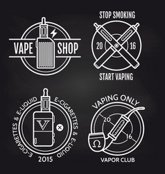 vape shop logo design on blackboard vector image