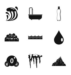 Water condition icon set simple style vector