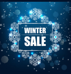 winter sale banner background vector image