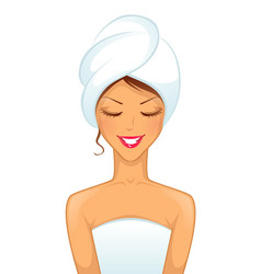 woman spa vector image
