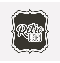 Frame retro style icon isolated icon design vector