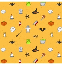 Halloween flat pattern soft color vector