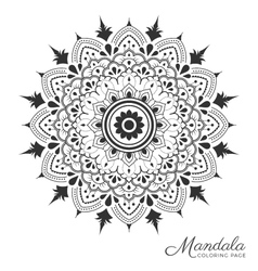 Mandala decorative ornament design vector