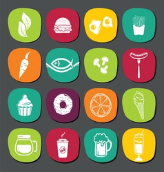 Set of food labels vector image