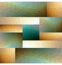 Modern abstract tile composed of mirror arranged vector